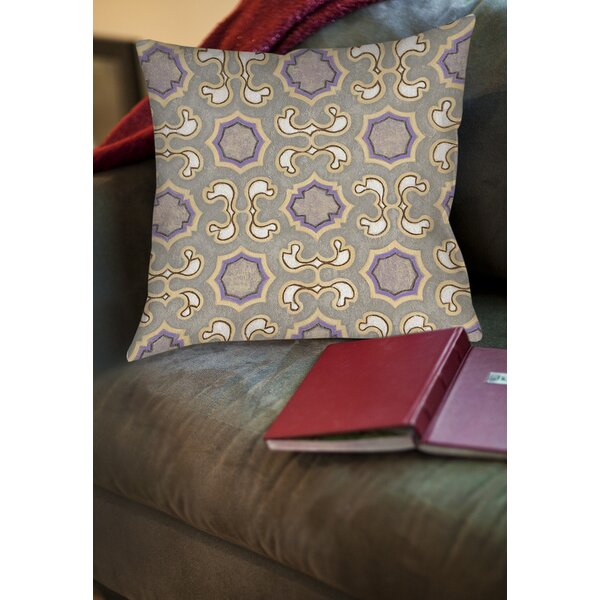 Plum Scene 1 Printed Throw Pillow by Manual Woodworkers & Weavers