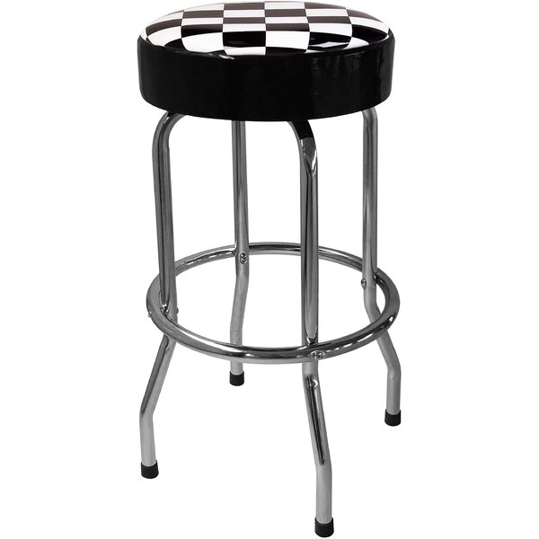 Checker Flag 30.5 Bar Stool by On The Edge Marketing