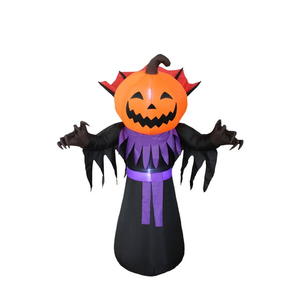 Halloween Inflatable Pumpkin Head Monster Yard Decoration by BZB Goods