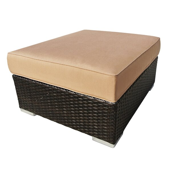 Daleville Outdoor Ottoman with Sunbrella Cushion by Latitude Run