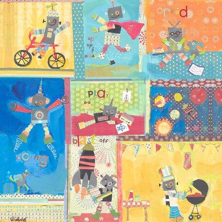 Ready Robots Canvas Art by Oopsy Daisy