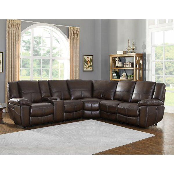 Yeomans Premium Leather Reclining Sectional by Red Barrel Studio