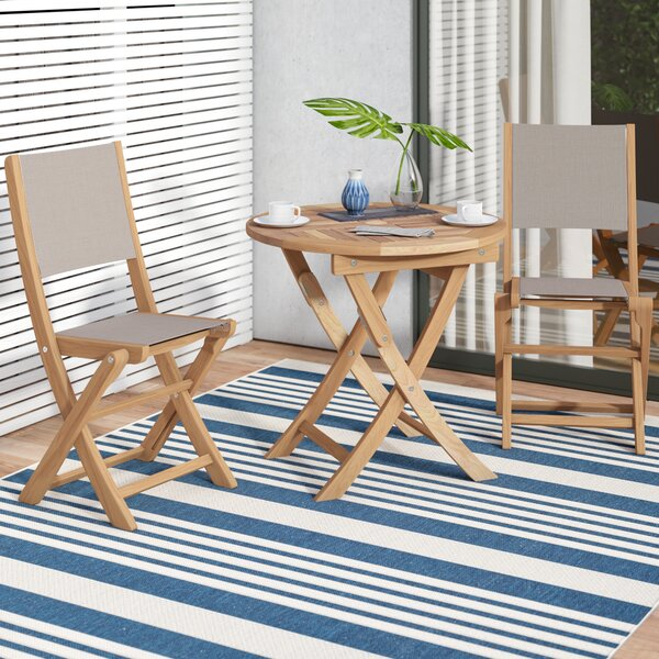 Curren Teak 3 Piece Bistro Set by Ivy Bronx