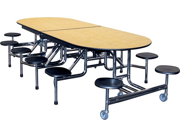 Rectangular Round Cafeteria Table by Palmer Hamilt
