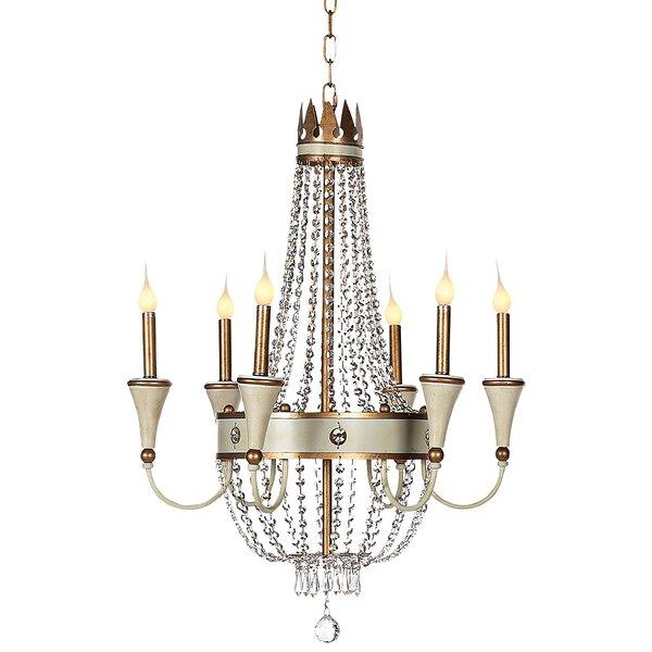 Josephine 6 - Light Candle Style Empire Chandelier