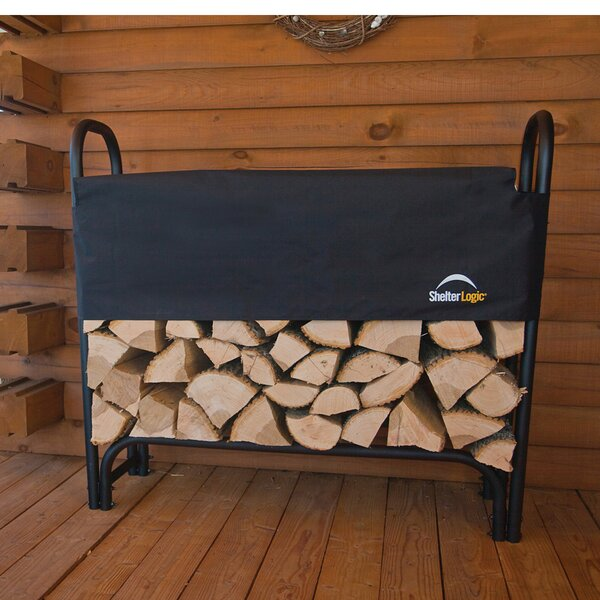 4 Ft. Heavy Duty Log  Rack With Cover By ShelterLogic
