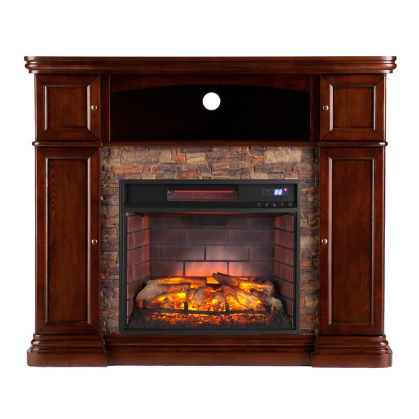 Patrizio Infrared Media Electric Fireplace by Darb