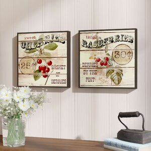 Berries 2 Piece Framed Vintage Advertisement Set by August Grove