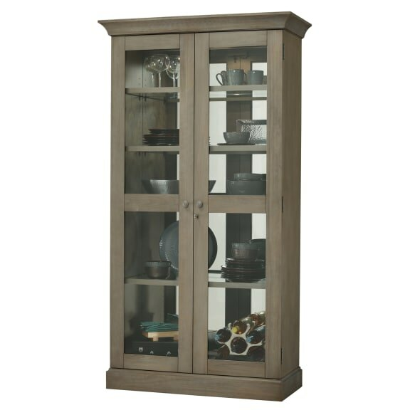 Broaddus Lighted Curio Cabinet by Darby Home Co