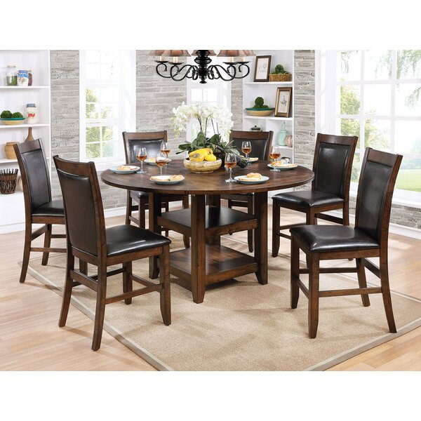Herbert 7 Piece Counter Height Drop Leaf Dining Set by Loon Peak