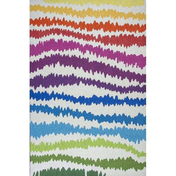 Zachariah Hand-Tufted Rainbow Area Rug by Zoomie Kids