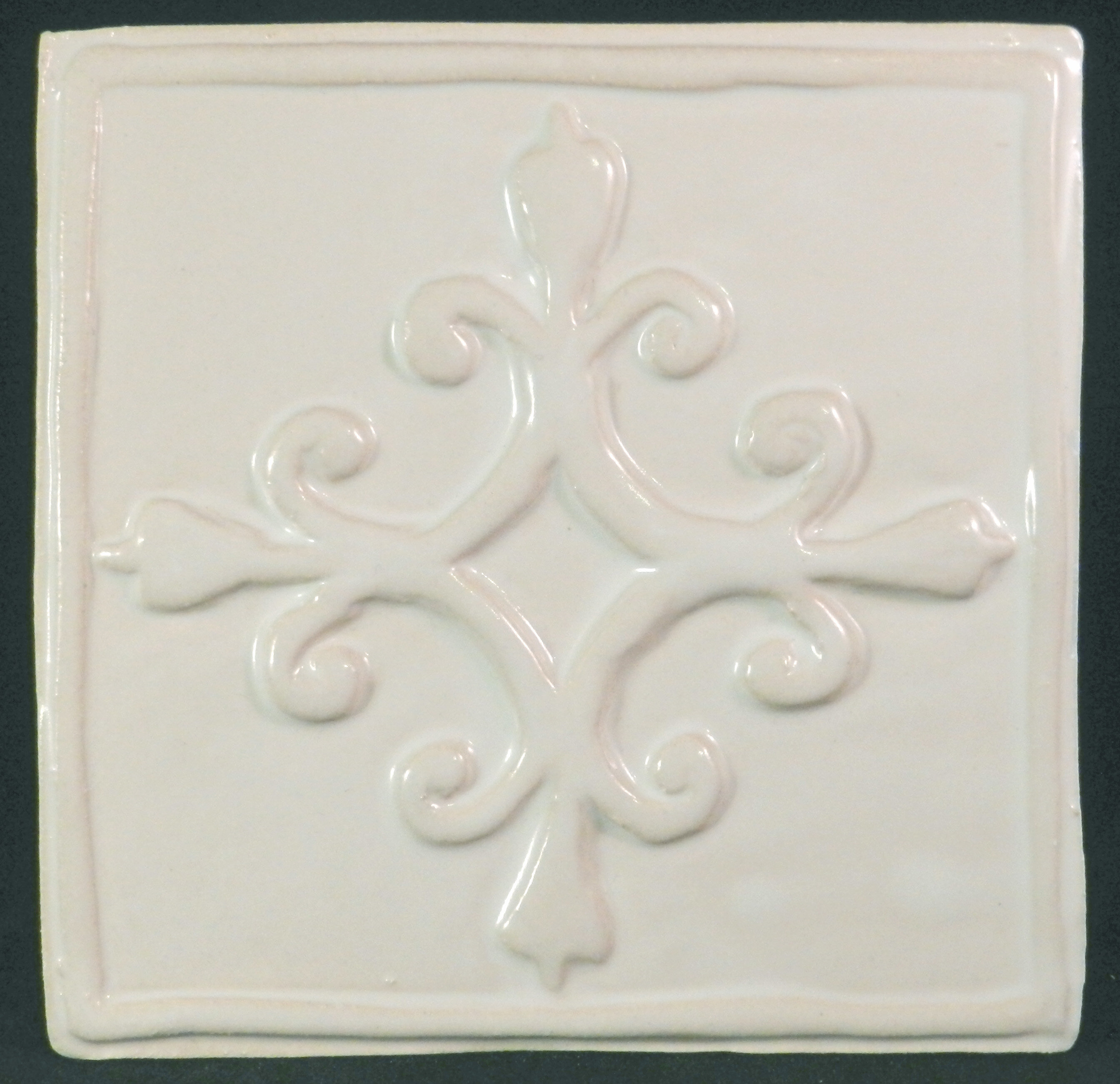Clay Decor French Quarter 6 X Ceramic Decorative Accent Tile In White Reviews Wayfair