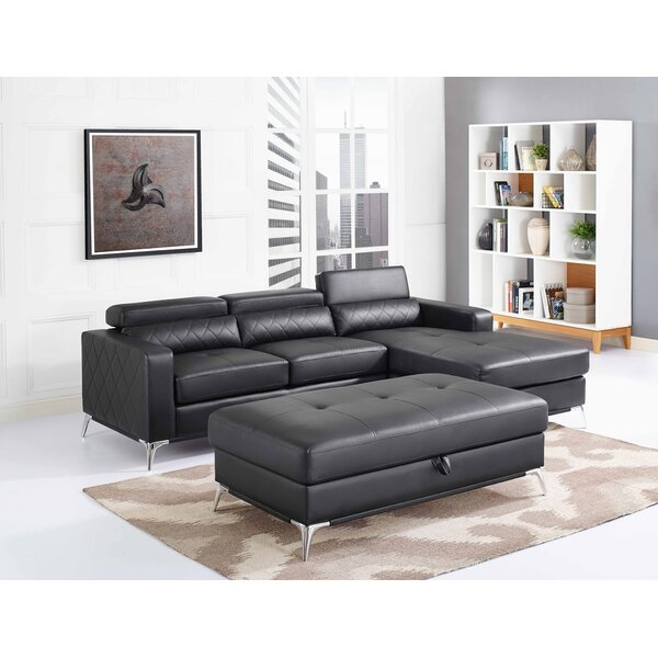 Crotts Storage Sectional with Ottoman by Orren Ellis