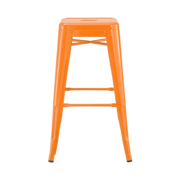 Despres Steel Stackable Counter 26 Bar Stool (Set of 4) by Williston Forge