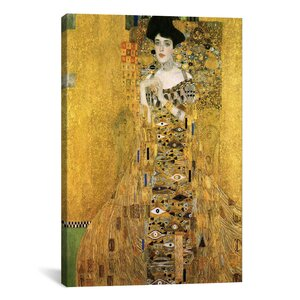 'Portrait of Adele Bloch-Bauer I' by Gustav Klimt Painting Print on Canvas by East Urban Home
