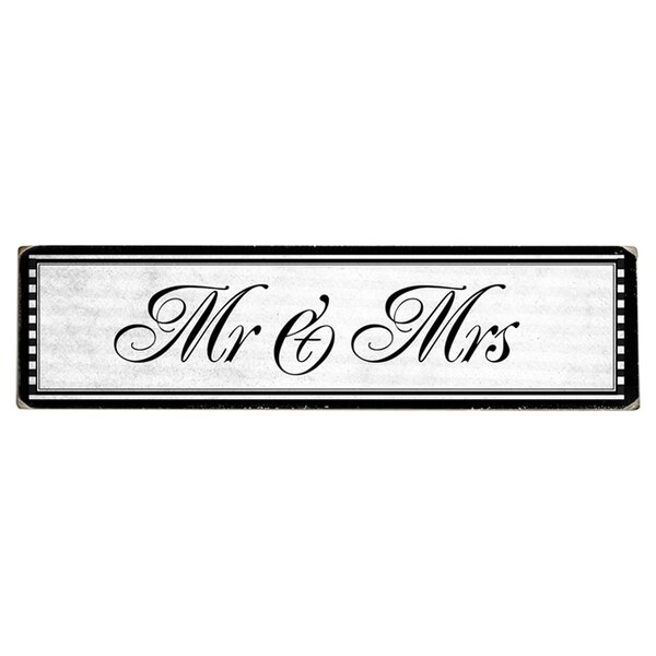 Mr. and Mrs. Graphic Art Print on Wood by Artehouse LLC
