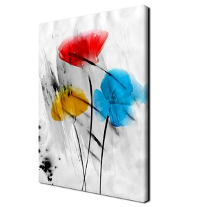 'Painted Petals III-B' Painting Print on Wrapped Canvas by Ready2hangart