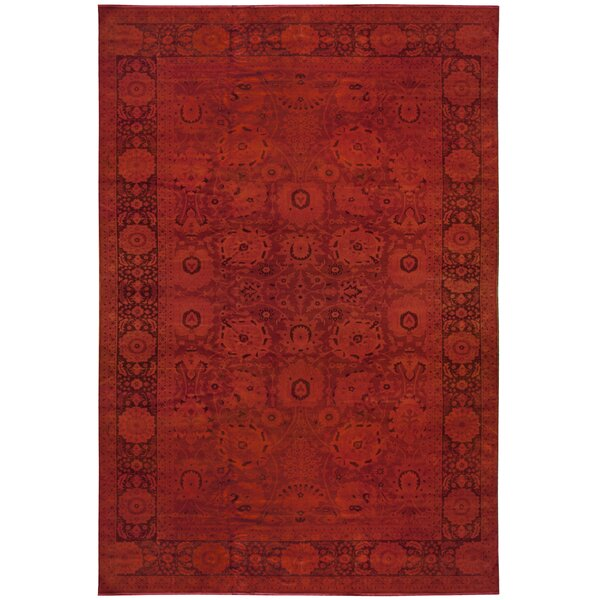 One-of-a-Kind Hand-Knotted Red 12' x 18' Wool Area Rug