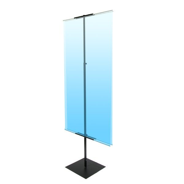 48 - 90 Vertical Adjustable Light Weight Double-Sided Banner Stand by Pinquist Tool & Die