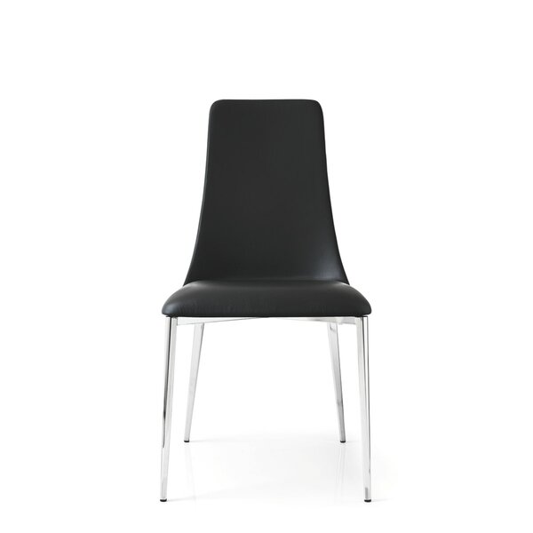 Etoile Genuine Leather Upholstered Dining Chair by Calligaris