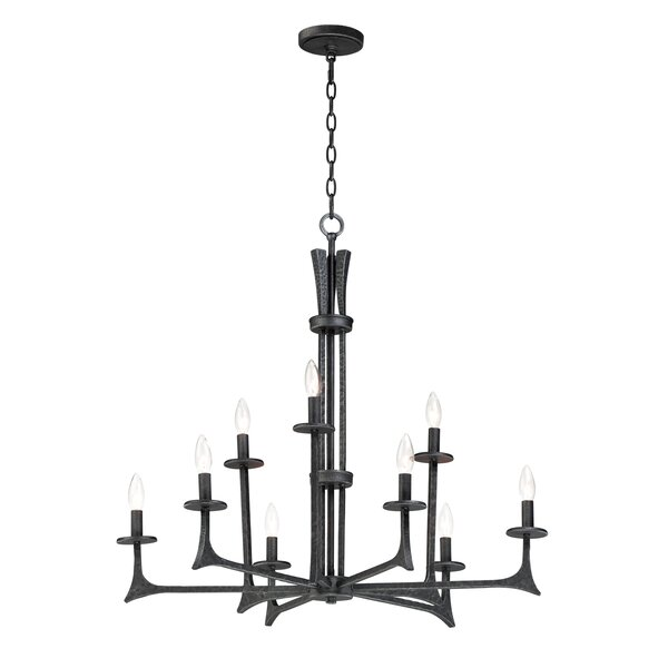 Moran 9-Light Candle Style Tiered Chandelier by Williston Forge Williston Forge