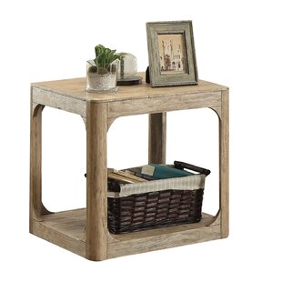 Ridley Lower Shelf Wooden End Table