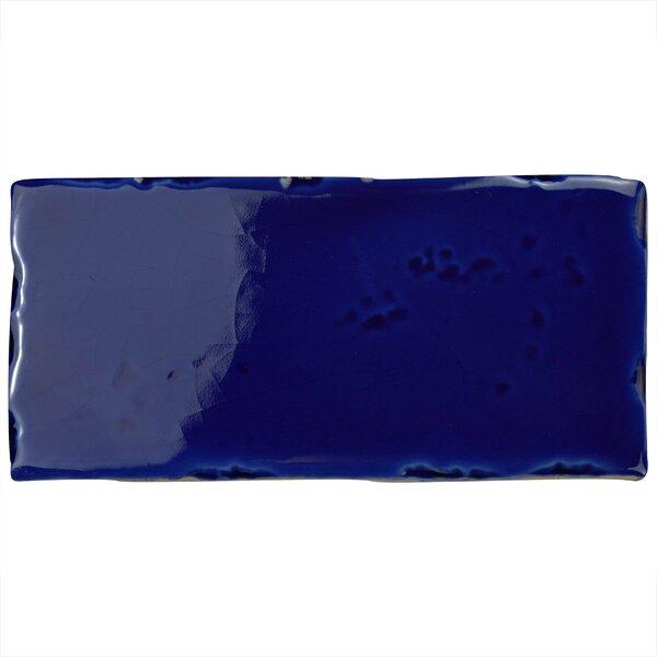 Frisia Subway 2.5 x 5.13 Ceramic Subway Tile in Blue by EliteTile