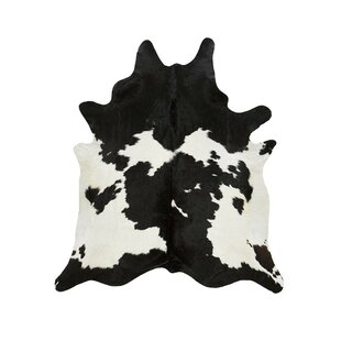 Read Reviews Special Cowhide Black/White Area Rug By Saddlemans