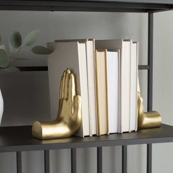 Hand Book End (Set of 2) by Wrought Studio
