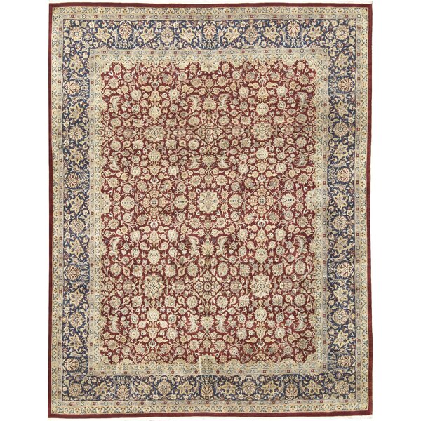 One-of-a-Kind Hand-Knotted Wool Beige/Burnt Orange Area Rug by Bokara Rug Co., Inc.