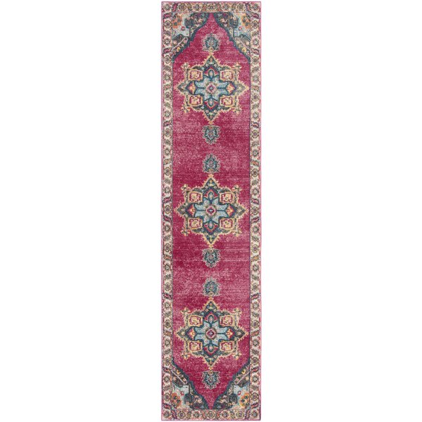 Doucet Pink/Blue Area Rug by Bungalow Rose