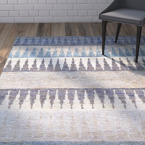 Vandergriff Blue/Beige Area Rug by Wrought Studio