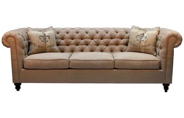 New Collection Trent Chesterfield Sofa by One Allium Way by One Allium Way