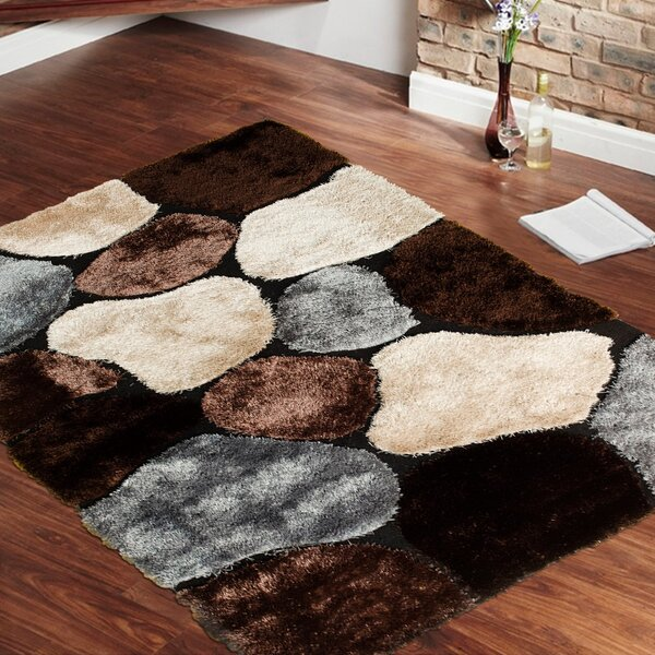 Hand-Tufted Brown Area Rug by AllStar Rugs
