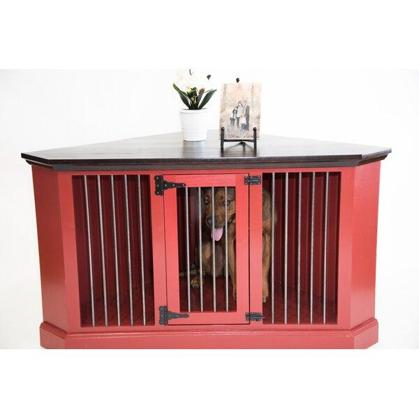 Brooke Medium Corner Credenza Pet Crate by Archie & Oscar