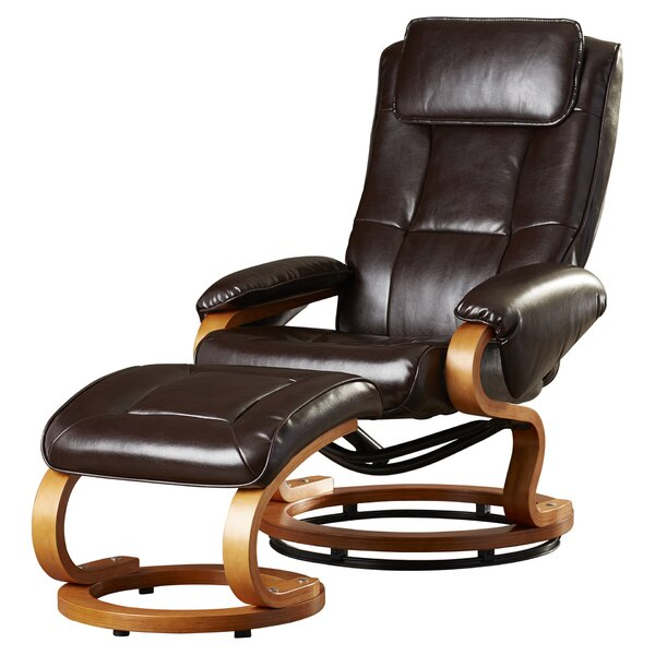 Review Medford Manual Swivel Recliner With Ottoman