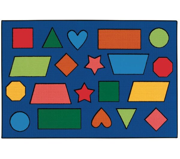 Color Shapes Kids Rug by Kids Value Rugs