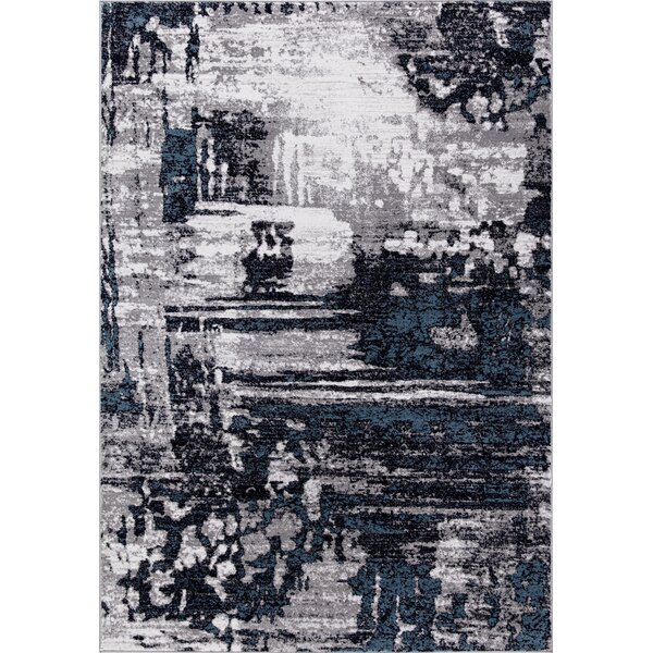 Mccollough Beautifully Vintage Navy Blue/Gray Area Rug by Williston Forge