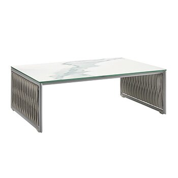 Pasley Aluminum Coffee Table by Bungalow Rose