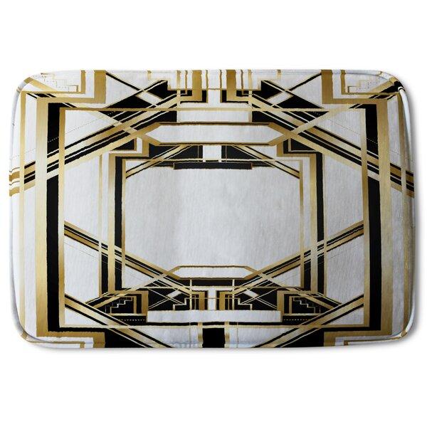 Kapono Art Deco Frame Designer Rectangle Non-Slip Bath Rug