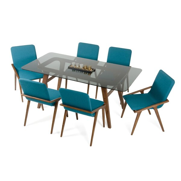 Mykonos 7 Piece Dining Set by Langley Street