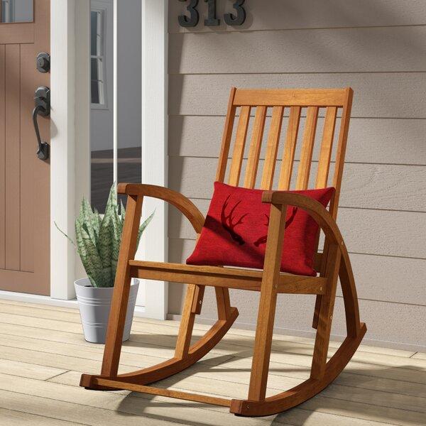 Bross Teak Rocking Chair by Loon Peak