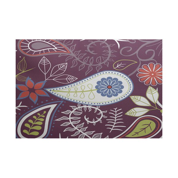 Vinoy Purple Indoor/Outdoor Area Rug by Bungalow Rose
