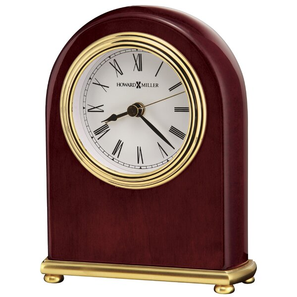 Rosewood Arch Alarm Clock by Howard Miller®
