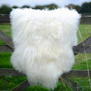 Exceptional Giant Size Genuine Sheepskin Soft Wool White Area Rug