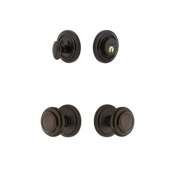 Circulaire Single Cylinder Knob Combo Pack with Knob by Grandeur