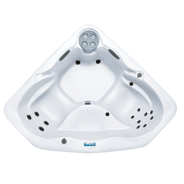 LS300 3-Person 17-Jet Plug and Play Spa with Adjustable Waterfall by Lifesmart Spas