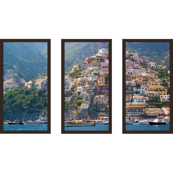 Positano, Amalfi Coast 3 Piece Framed Photographic Print Set by Picture Perfect International