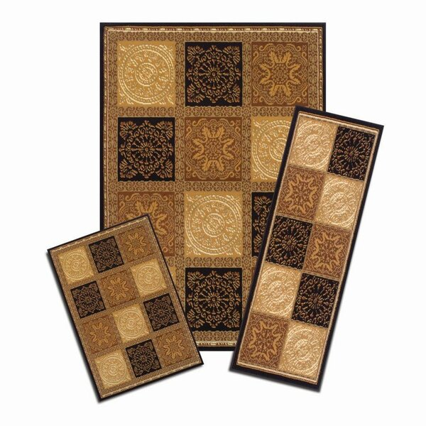 Capri 3 Piece Soho Area Rug Set by Achim Importing Co