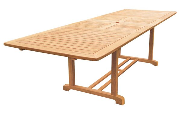 Clatterbuck Rectangular Extendable Teak Dining Table by Darby Home Co